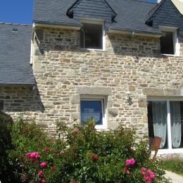 façade sud avec terrasse - Location de vacances - Saint-Pabu