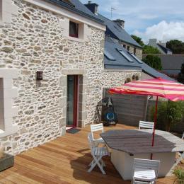Extérieur de la maison avec terrasse plein sud - Location de vacances - Plouguerneau