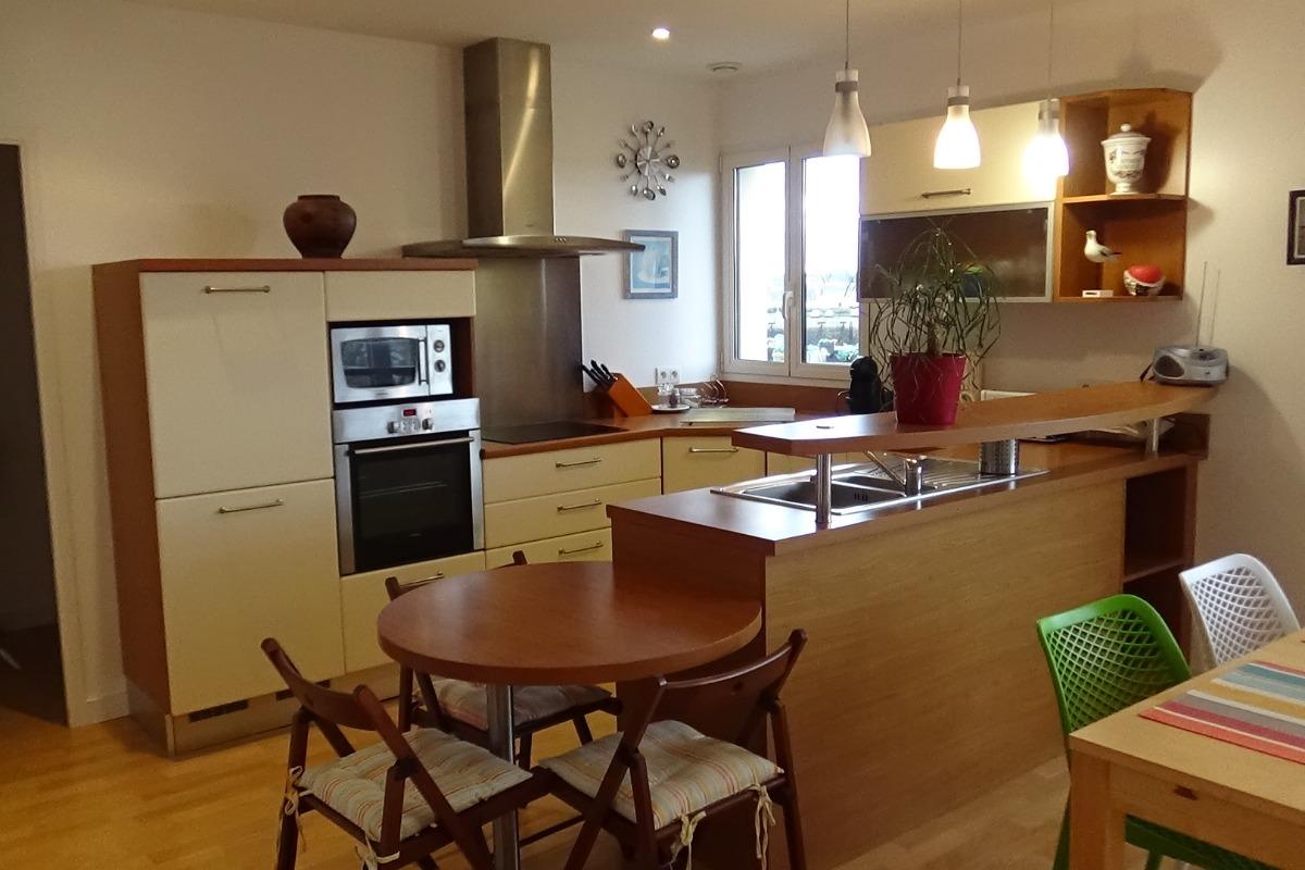 cuisine coin repas - Location de vacances - Guilvinec