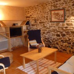 gîte Avel Vor   : le salon  - Location de vacances - Hanvec