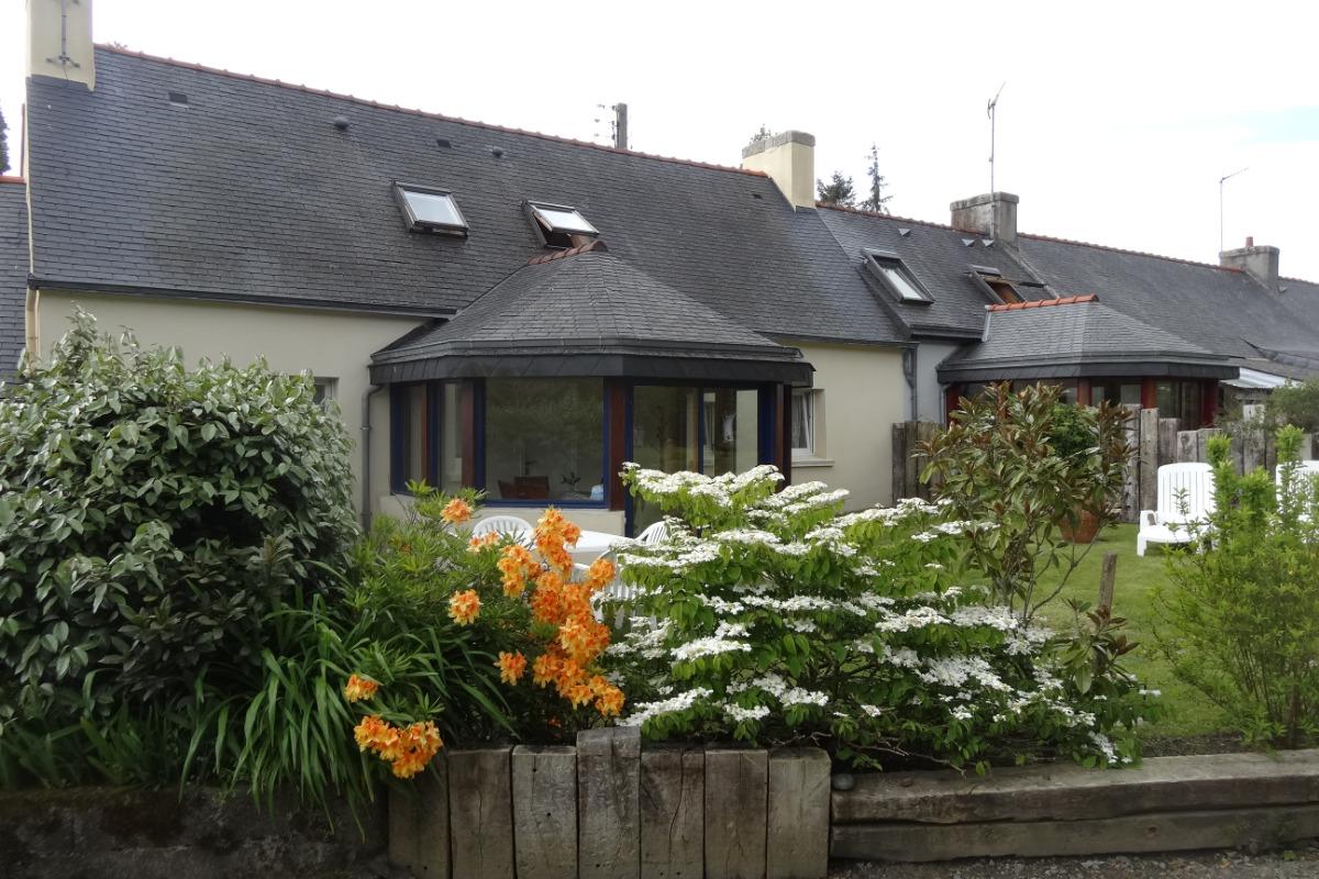 façade  nord et jardin  - Location de vacances - Combrit
