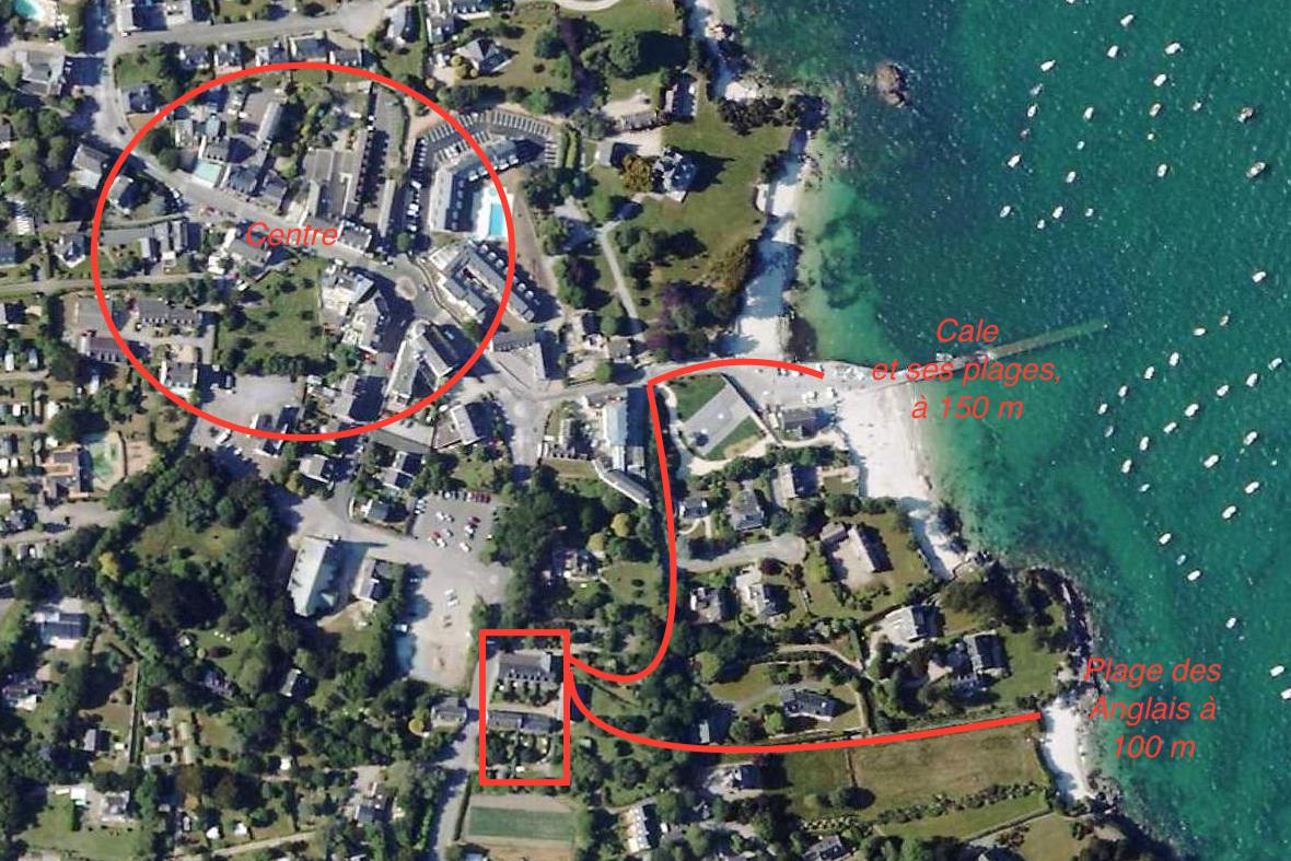salon avec cheminée - Location de vacances - Fouesnant