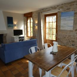 Etage: chambre 1 avec lit 140 - Location de vacances - Fouesnant