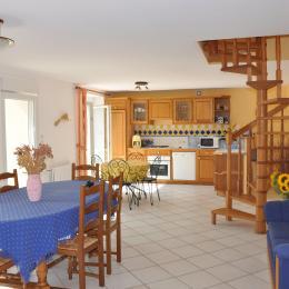 Séjour cuisine - Location de vacances - Lannilis