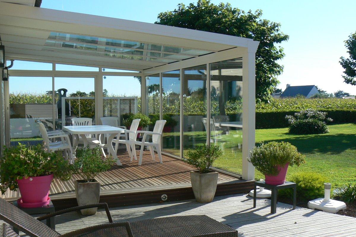 terrasse bois et pergola  - Location de vacances - Plouguerneau