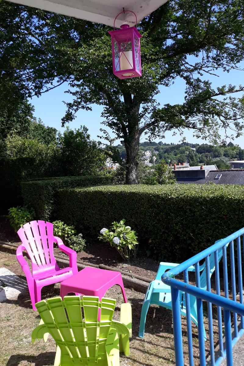 Vue du jardin et de la maison - Location de vacances - Audierne