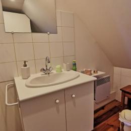 La salle de bain de la chambre jaune - Chambre d'hôtes - Loctudy