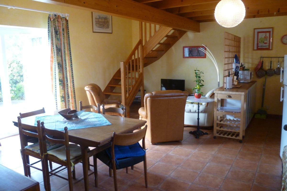 La chambre à coucher au rez de jardin - Location de vacances - Lannilis