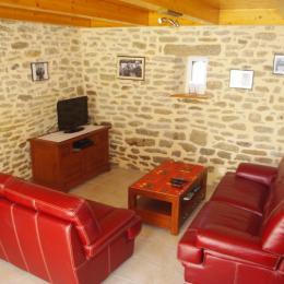 chambre à grand lit au rez de chaussée - Location de vacances - Plomeur