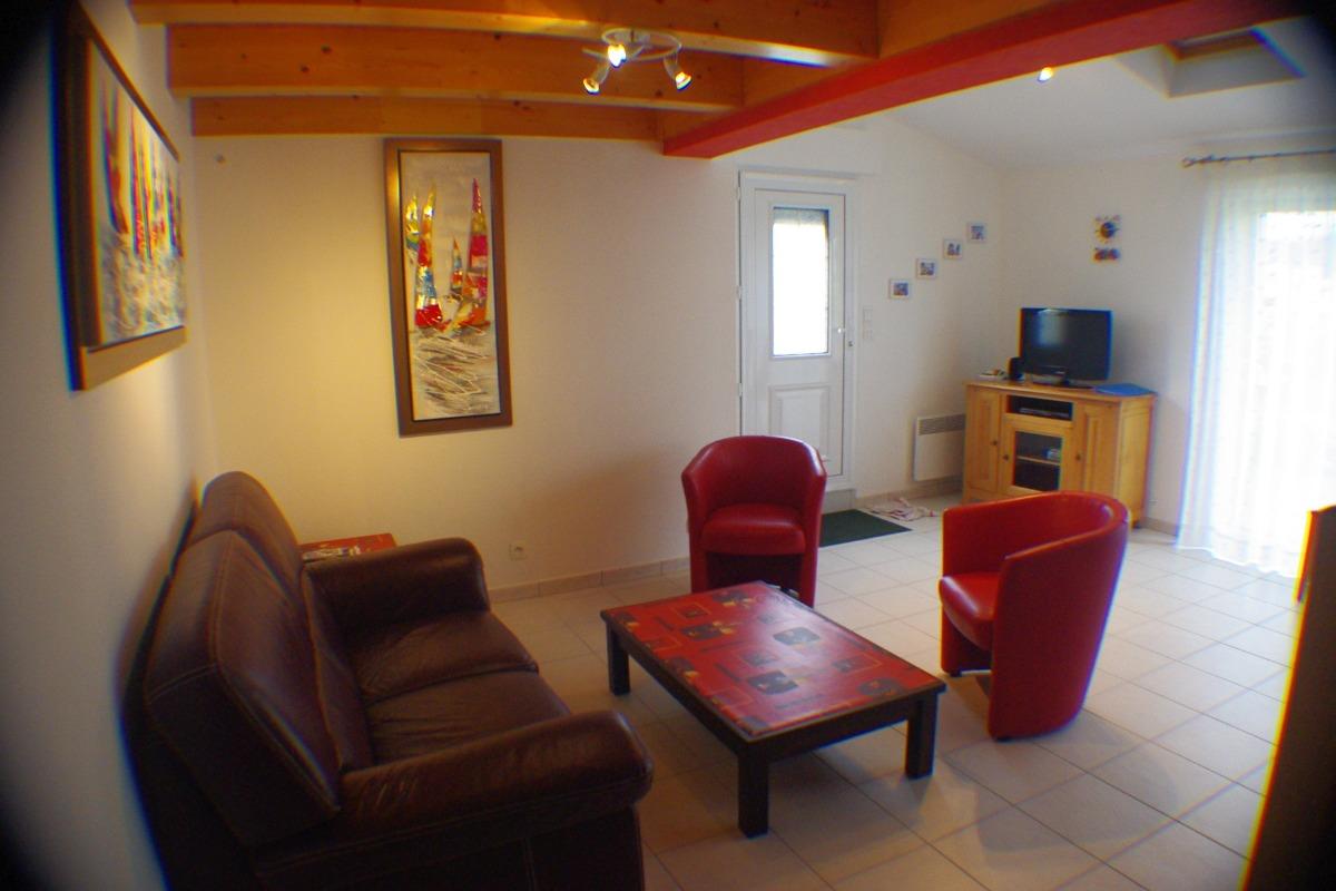 salon et pièce à vivre - Location de vacances - Plomeur