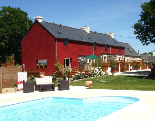 piscine de nuit - Location de vacances - Saint-Thois