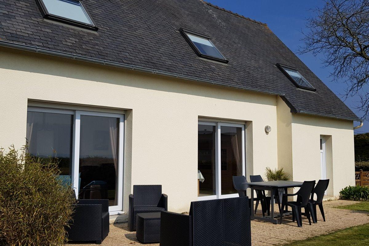 La maison, terrasse vue mer - Location de vacances - Roscoff