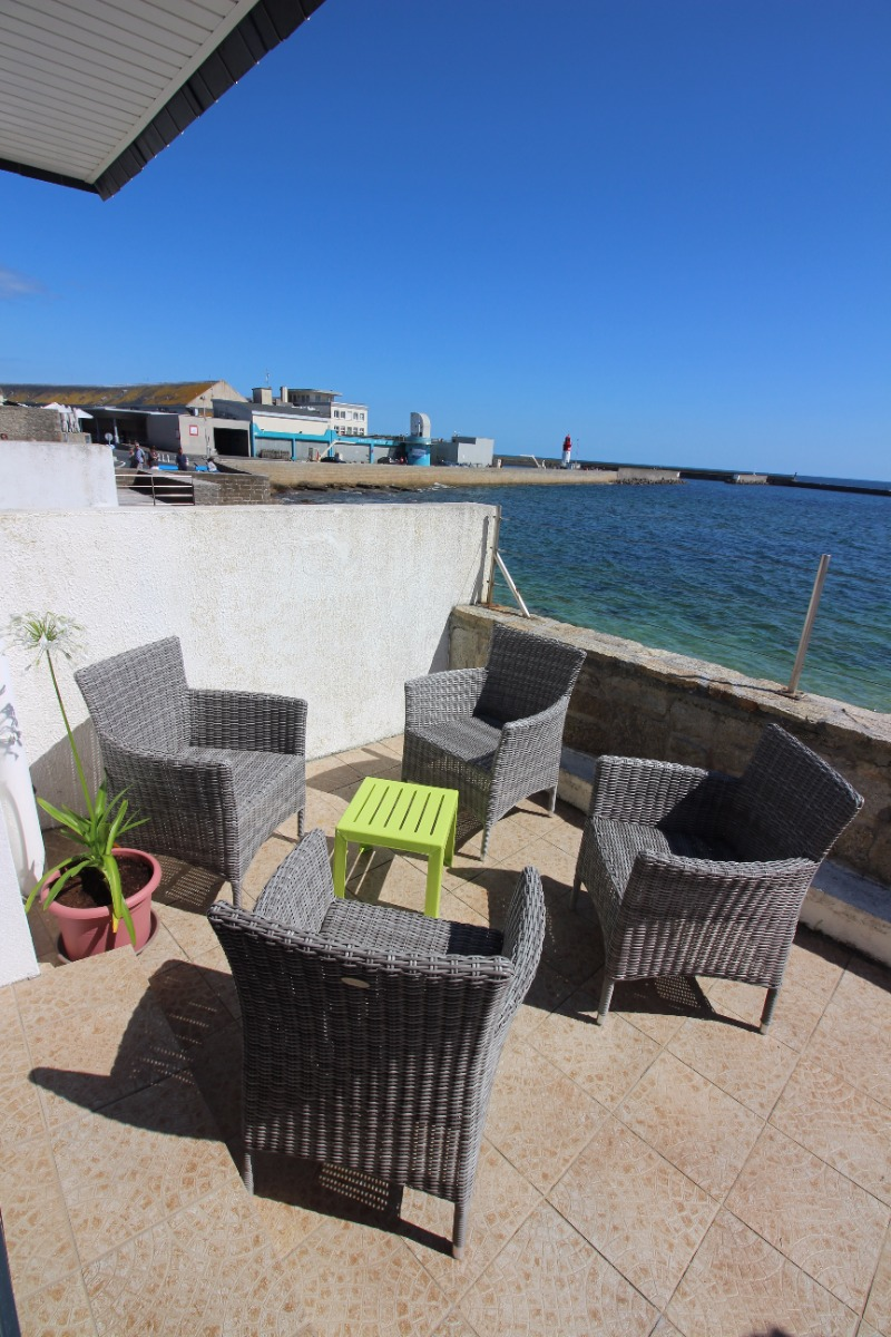 Vue de la terrasse sur le port - Location de vacances - Guilvinec