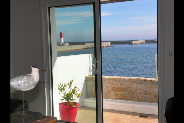Vue du salon - Location de vacances - Guilvinec