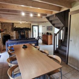 Etage: Chambre 1 avec lit 140 - Location de vacances - Douarnenez