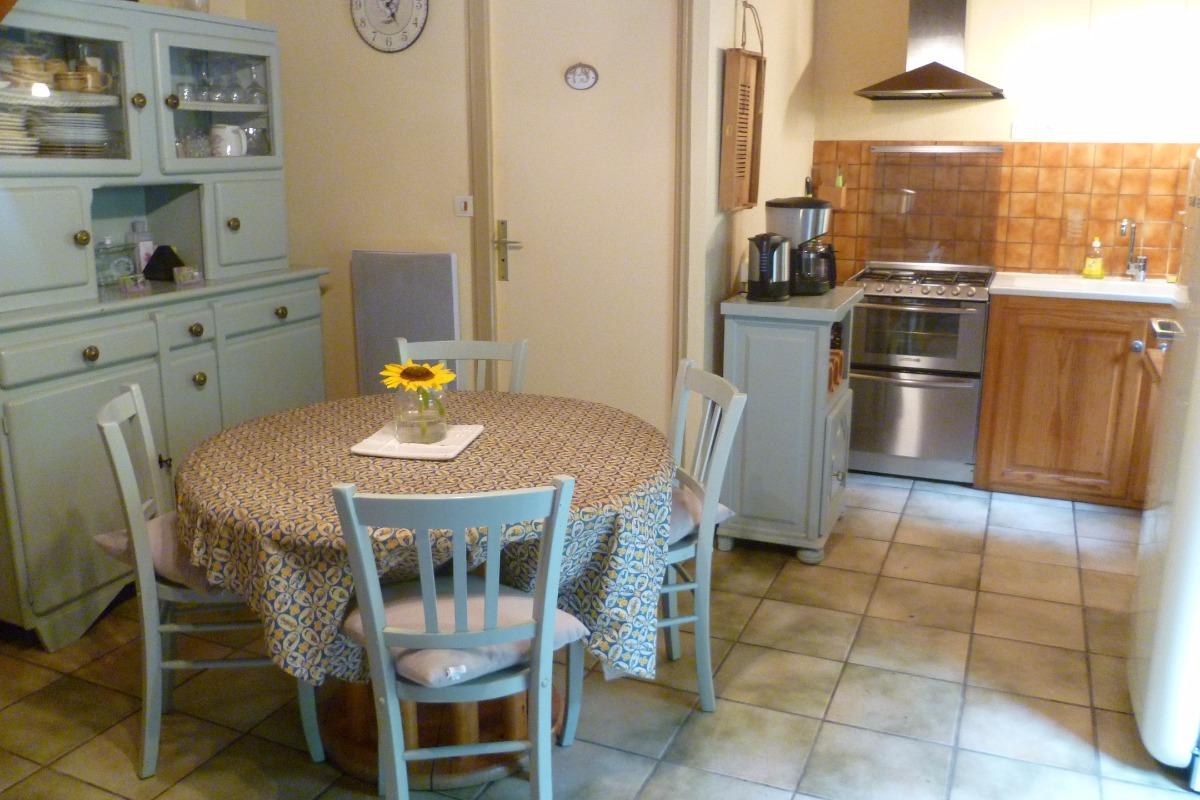 salle et salon - Location de vacances - Saint-Thois