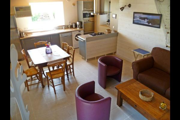 Cuisine et espace repas - Location de vacances - Tréogat