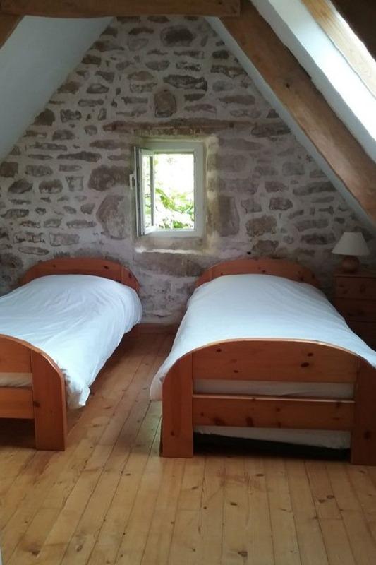 Etage: chambre 2 lits - Location de vacances - Plouhinec