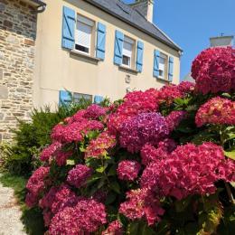 façade plein sud, jardin clos, salon de jardin ... - Location de vacances - Saint-Pabu