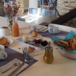 Petit -déjeuner gourmand - Chambre d'hôtes - Arzano