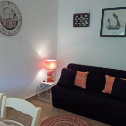 Canapé dans le salon, pièce de vie agréable - Location de vacances - Bénodet