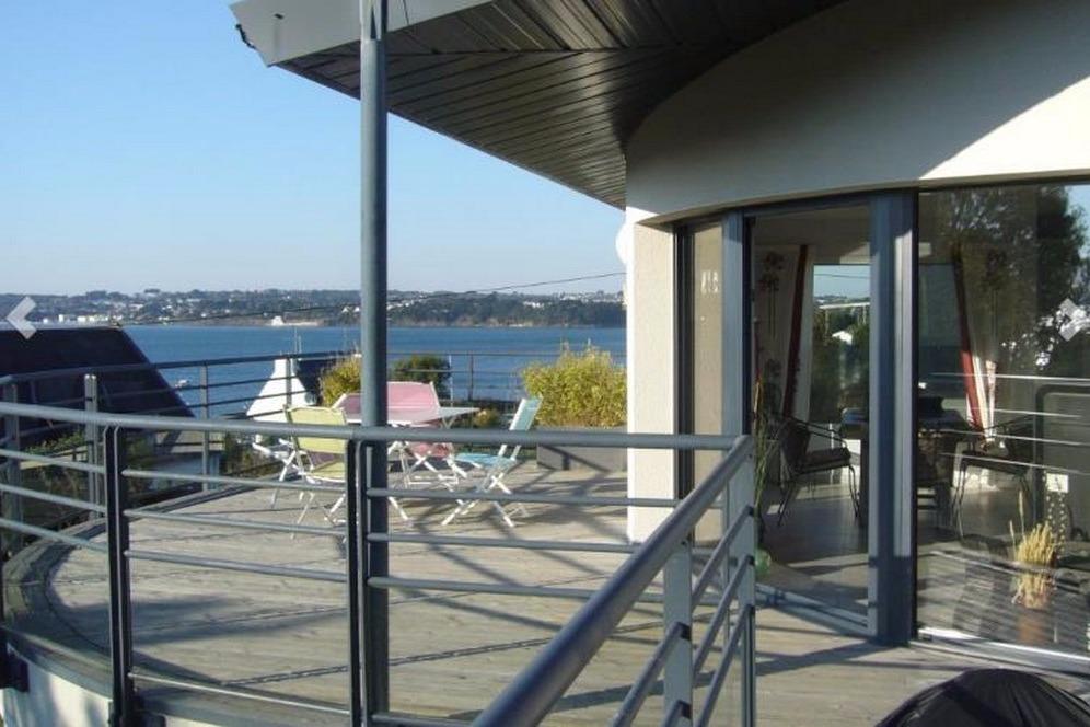 balcon avec vue mer - Location de vacances - Plougastel-Daoulas