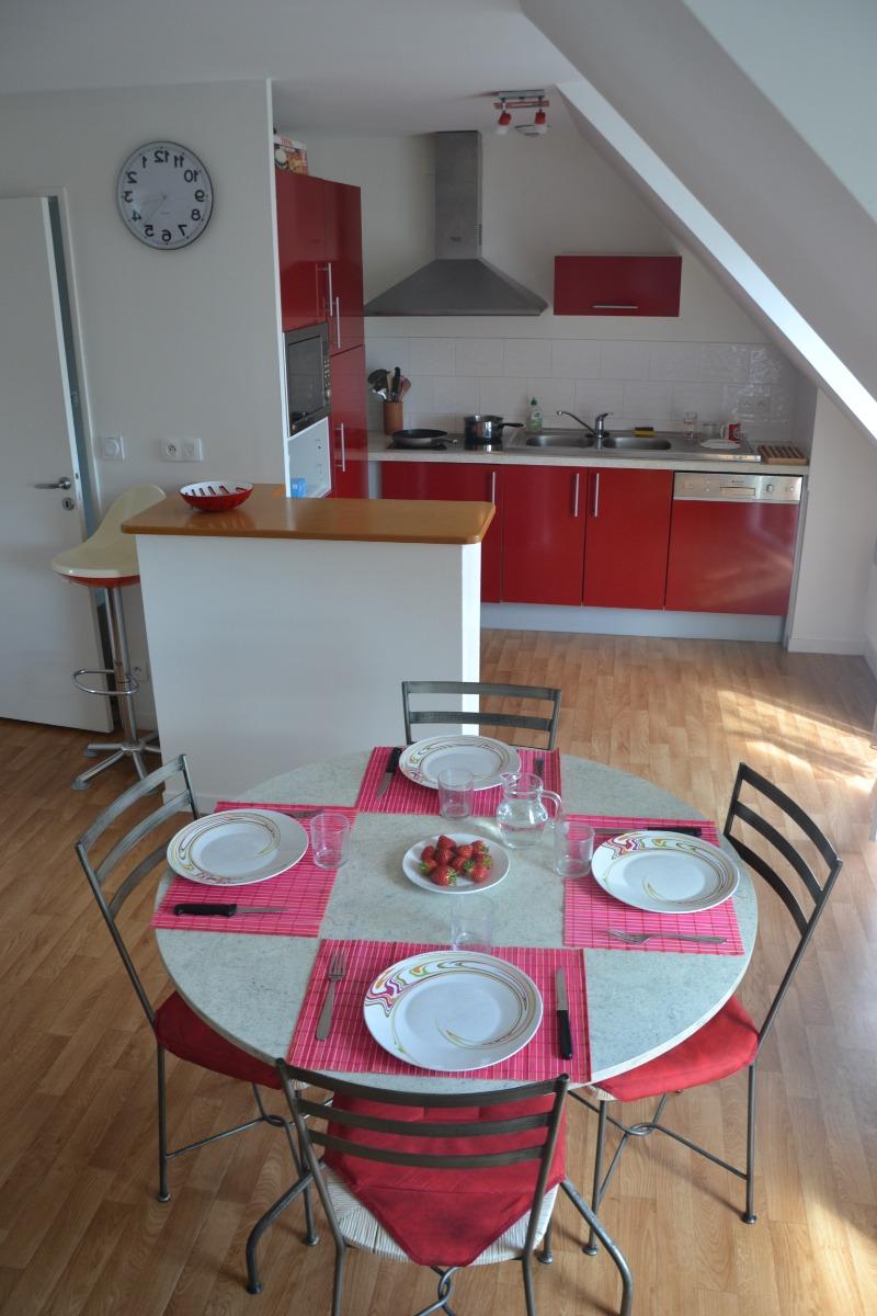 Espace salon / cuisine - Location de vacances - Clohars-Carnoët