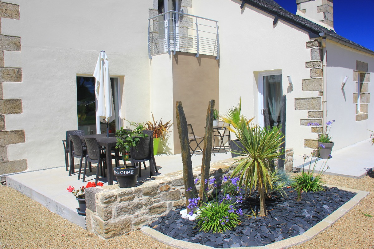 terrasse bien exposée - Location de vacances - Scrignac