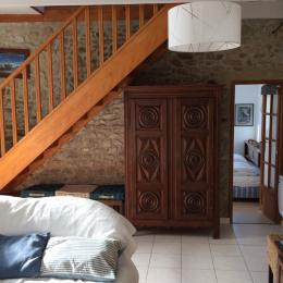 salon et accès chambre rdc - Location de vacances - Plouguerneau