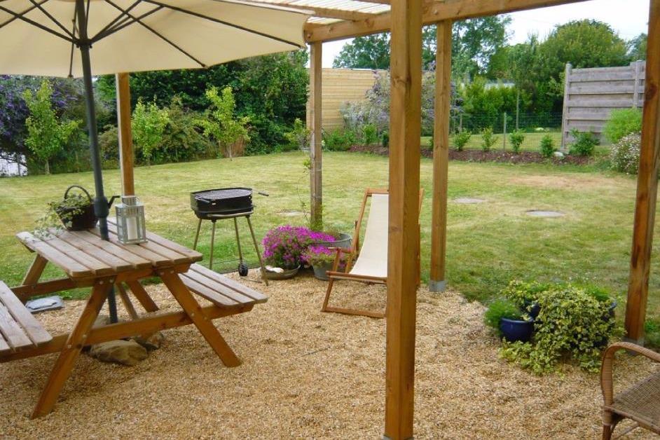 Pergola sur jardin clos - Location de vacances - Locquirec