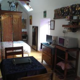 Vue d'ensemble cuisine salon chambre - Location de vacances - Gouézec