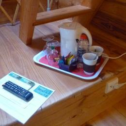 plateau d'accueil avec café thé infusion - Chambre d'hôtes - Lanvéoc