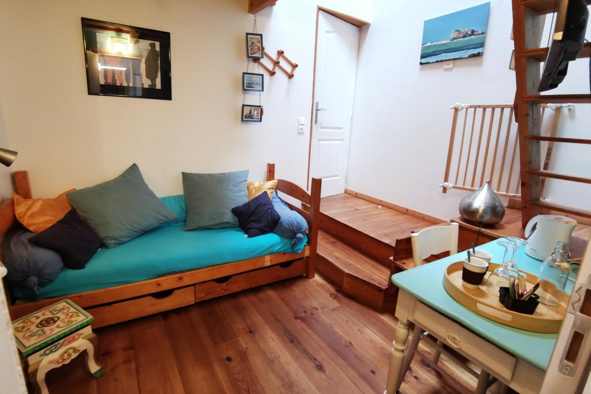mezzanine avec lit 140 - Chambre d'hôtes - Lanvéoc