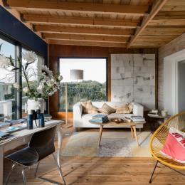 espace salon avec vue sur mer - Location de vacances - Santec