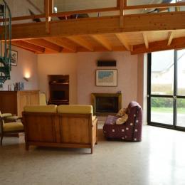 salon avec cheminée - Location de vacances - Roscoff