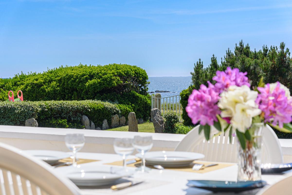 grande terrasse ombragée avec vue mer - Location de vacances - Trégunc