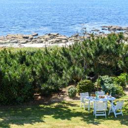 terrasse spacieuse exposée sud avec vue mer - Location de vacances - Trégunc