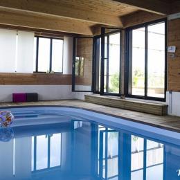 piscine chauffée 7x3 m - Location de vacances - Santec