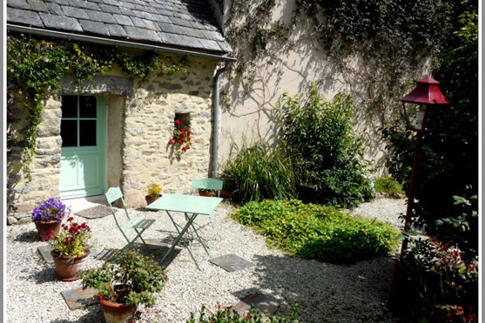 Terrasse privative Le Lutik - Commana - Finistère - Chambre d'hôtes - Commana