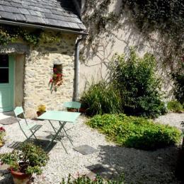 Terrasse privative Le Lutik - Commana - Finistère - Chambre d'hôte - Commana
