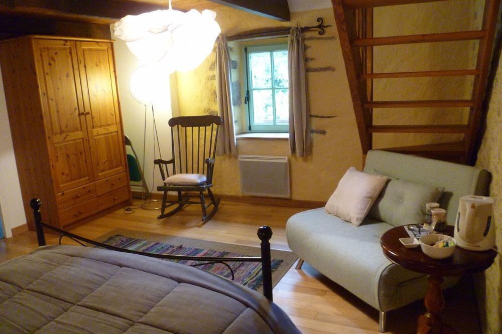 Chambre Le Poulpiken - 1 lit 140 - Commana - Finistère - Monts d'Arrée - Chambre d'hôtes - Commana