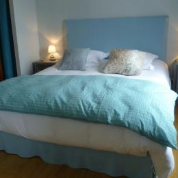 Chambre bleue - lit 160 x 200  - Chambre d'hôtes - Concarneau