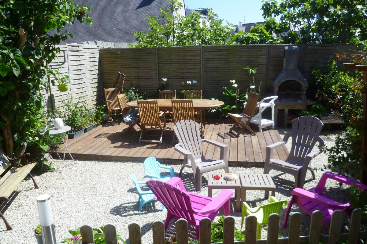 jardin clos avec barbecue - Location de vacances - Roscoff