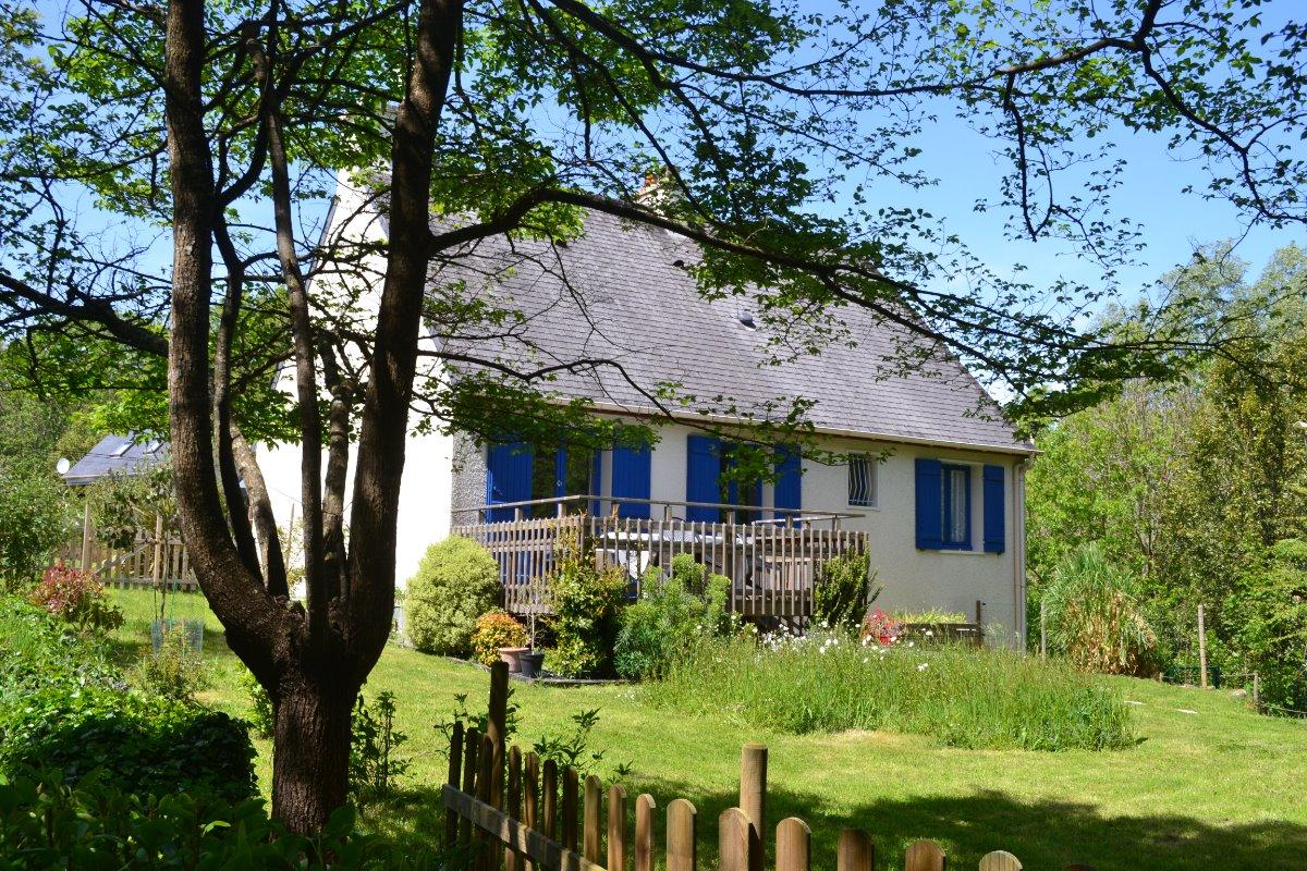 Vue jardin - Location de vacances - Moëlan-sur-Mer