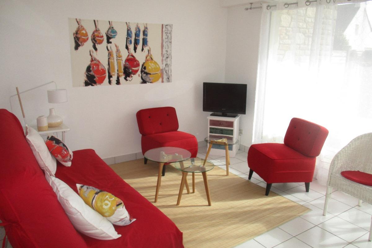 Salon/séjour en rez de jardin avec 2 couchages - Location de vacances - Roscoff