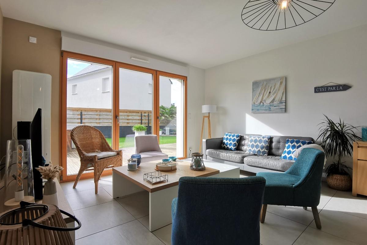 salon-séjour-cuisine - Location de vacances - Roscoff