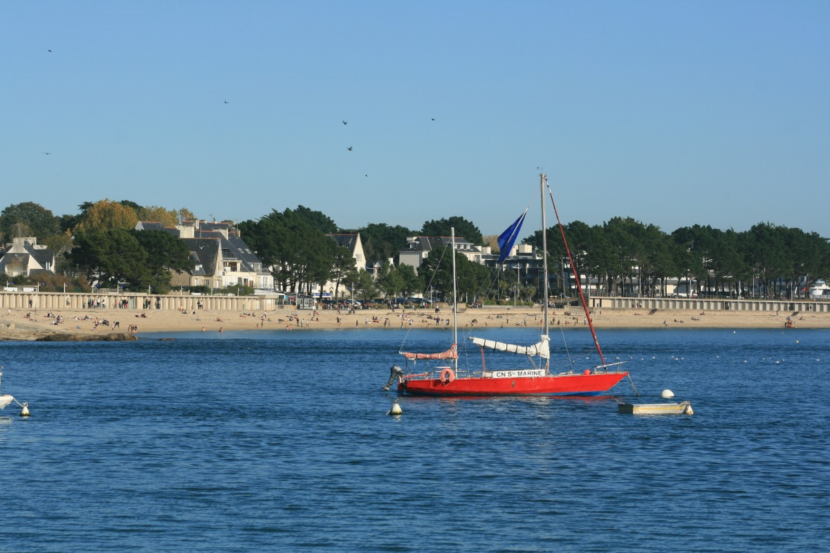 La page de Bénodet vie de Sainte Marine - Location de vacances - Bénodet