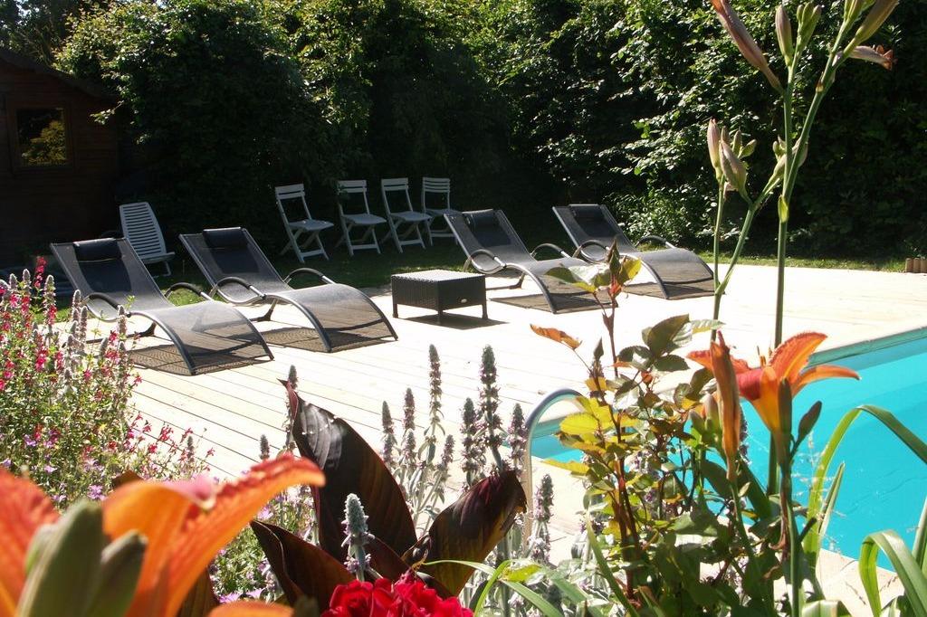Terrasse côté sud - Location de vacances - Moëlan-sur-Mer