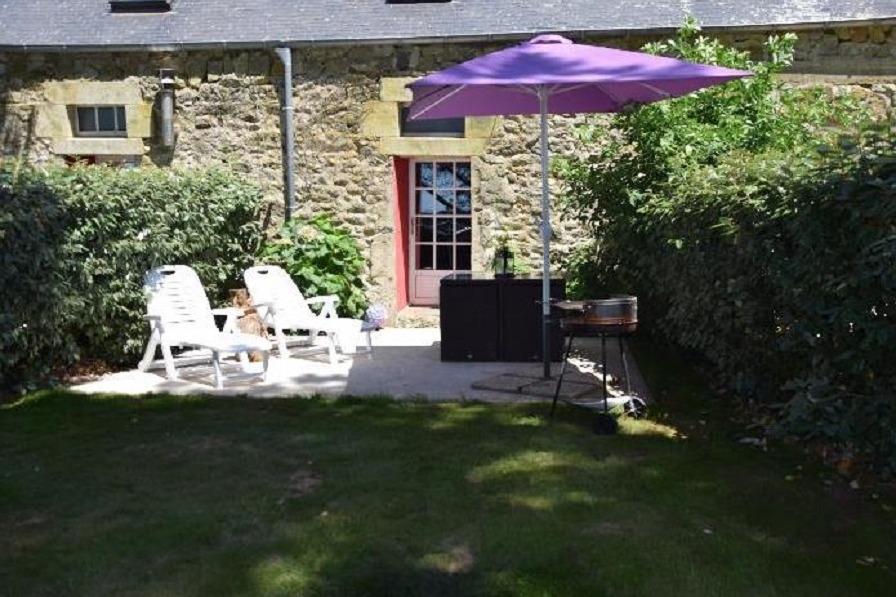 terrasse avec jardin et vue mer - Location de vacances - Plomodiern