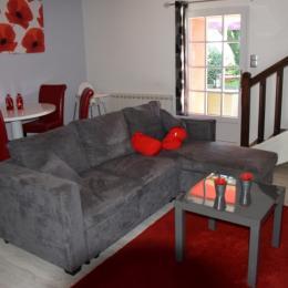 salon séjour - Location de vacances - Plomodiern